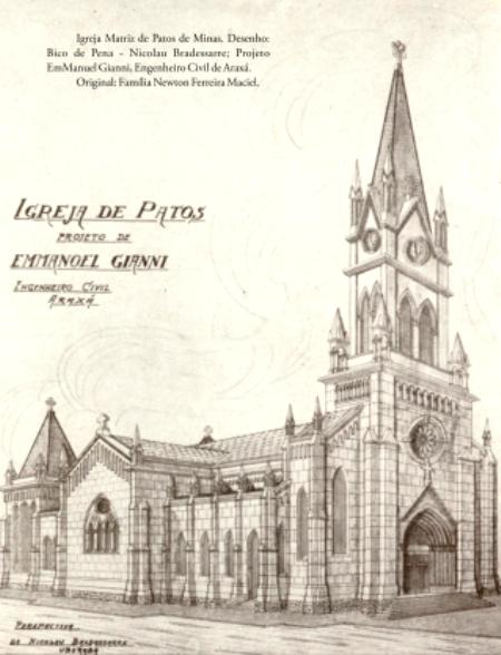 Efecadepatos Desenho Bico De Pena Do Projeto Da Catedral De
